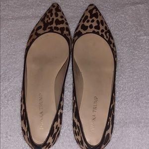 Ivanka Trump calf hair leopard flats